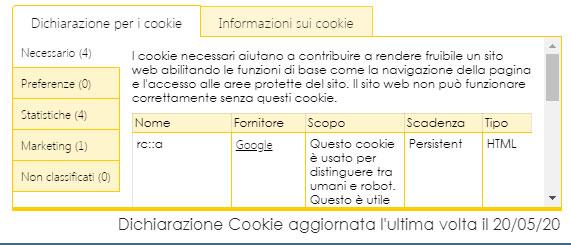banner cookie come impostarlo